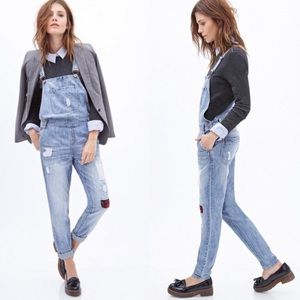 Forever 21 Distressed Jean Overall - size 28
